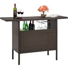 wicker counter bar table u2013 best choice products