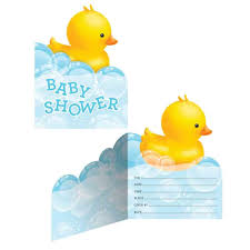 amazon com rubber ducky baby shower invitations kitchen u0026 dining