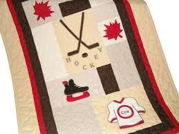 Canadian Crib Bedding Canadian Hockey Quilt Sports Quilt Crib Baby Quilt Organic