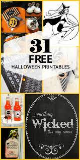 Free Halloween Printables Pinterest Harris Sisters Girltalk 31 Free Halloween Printables