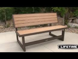 lifetime picnic table costco lifetime convertible bench video gallery