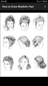sketches of hair how to draw realistic hair android apps on google play