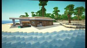 Modern Beach Homes by Minecraft Modern Beach House Youtube