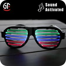 party sunglasses with lights wholesale party favor supply sound activated led light sunglasses