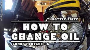 how to change oil honda magna youtube