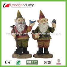 china wholesale polyresin garden gnome sitting with a book lawn