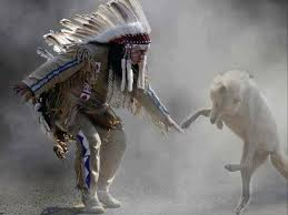 wolf and indians
