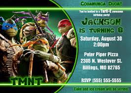 ninja turtle birthday invitations blueklip com