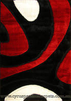 Red White Black Rug Monte Carlo Abstract Shaggy Rug U003cbr U003e 3583 Black Red White Monte