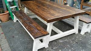 Ana White Truss Coffee Table Diy Projects by Ana White Two Toned Shabby Chic 4x4 Truss Dining Table And