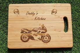 personalised cutting boards motorbike motorcyle personalised engraved chopping board