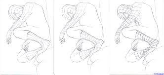 how to draw black spiderman black spiderman step by step marvel