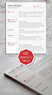 Resume Template With Picture Smart Freebie Word Resume Template The Minimalist Cv Template