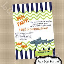 shark birthday cards free printable invitation design