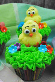 Cute Easter Cupcake Decorations by Cute Easter Ducky Cupcakes Recipe