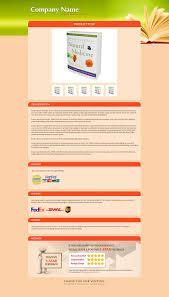 peach yellow u0026 green theme ebay listing design templates to list