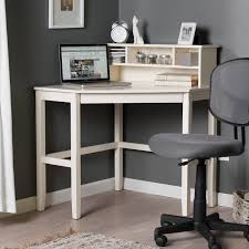 Pine Desk With Hutch Minimalist White Painted Pine Wood Laptop Desk With Small Hutches