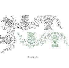thistle border and corner digital quilting designs