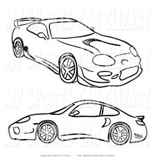 drift cars drawings two cars clipart 16