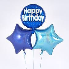 happy birthday balloon blue happy birthday balloon bouquet inflated free delivery