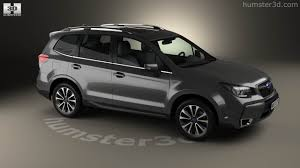 2016 white subaru forester 360 view of subaru forester xt touring 2016 3d model hum3d store