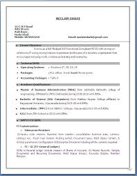 gallery of sap consultant resume format resume format sap mm