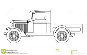 Old Ford Truck Vector - early pickup truck outline stock vector image 84205740