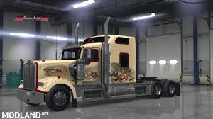 kenworth america indian spirit custom skin kenworth w900 mod for american truck