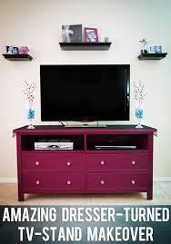Bedroom Dresser Tv Stand Amazing Dresser Turned Tv Stand Makeover