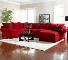 Sectional Sofa Pillows by Red Microfiber Sectionals Highlight Your Living Room Homesfeed