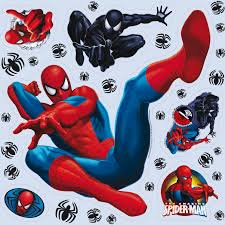 marvel spiderman multicolour self adhesive wall sticker marvel spiderman multicolour self adhesive wall sticker departments diy at b q