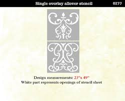 Home Stencil Amazon Com Wall Stencil Damask Scroll Large Allover Pattern Wall