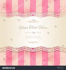 vintage lacy ornamental ribbon on striped stock vector 319273097