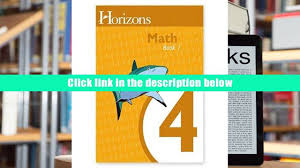 free download horizons math 4 student workbook book 1 lifepac