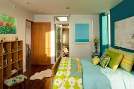 Bedroom Blue And Green Bedroom Colors Ideas U2013 Blue And Bright Lime Green Interior