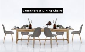 amazon com greenforest dining side chairs strong metal legs
