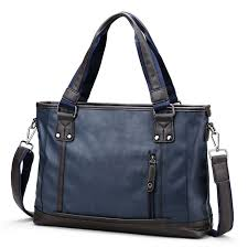 serviette de bureau pour homme homme d affaires sac à bandoulière travail bleu porte documents pour