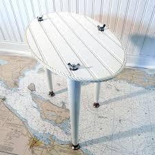 Nautical Side Table Coastal Side Table U2013 Tratamientos Co