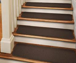 chocolate brown tape down carpet stair treads set of 12 durable