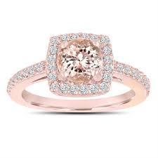 morganite gold engagement ring pink morganite engagement ring 14k gold 1 28 carat