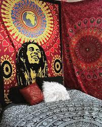 chambre bob marley rasta bob marley tapestry decor house garden bob