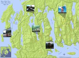 Acadia National Park Map Personalized Commemorative Maps Western Mountain Mapping
