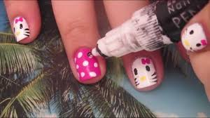nail art designs hello kitty nail art for short nails tutorial