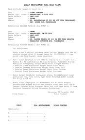 format surat kuasa jual beli rumah surat pernyataan jual beli tanah 1 638 jpg cb 1386033299