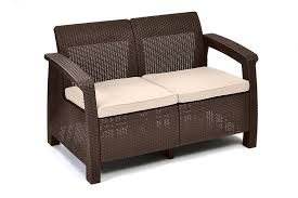 How To Fix Wicker Patio Furniture - amazon com keter corfu love seat all weather outdoor patio