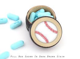 Baseball Wedding Ring by Buy A Custom Baseball Pill Box Baseball Wedding Ring Box