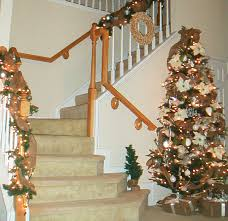 Banister Christmas Ideas Decorating With Burlap For Christmas Ideas Burlap Christmas