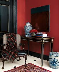combine bold color with a touch of metallic for timeless style
