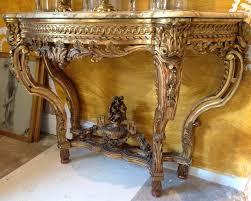 Italian Console Table C18th Gilt Wood Italian Console Table