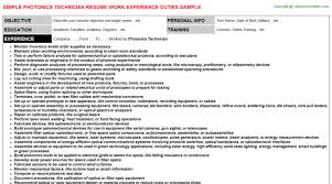 Surgical Tech Resume Examples by Photonics Technician Resume Sample